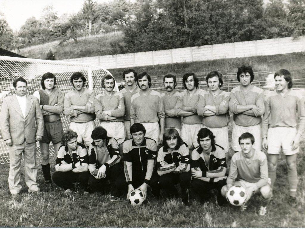 Mužstvo dospelých TJ Techsklo v jesennej časti ročníka 1978/79
