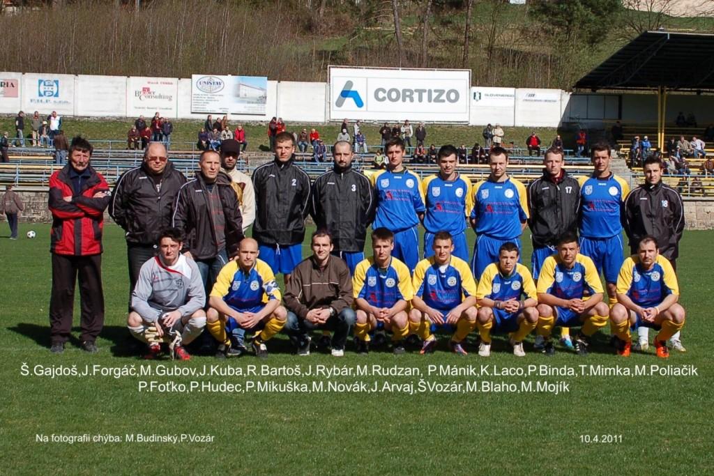 Mužstvo dospelých v sezóne 2010/2011